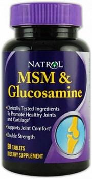 Natrol - MSM & Glucosamine Double Strength (90таб) - фото 5150