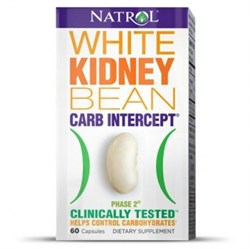 Natrol - White Kidney Bean Carb Intercept TM Phase 2+ Cr (60капс) - фото 5158