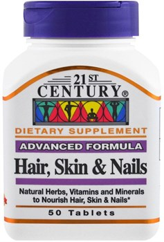 21st Century Advanced Formula Hair, Skin & Nails (50таб) - фото 6450