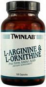 Twinlab L-Arginine &  L-Ornithine (100капс)