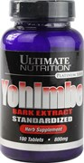 Ultimate Nutrition - Yohimbe Bark 800mg (100таб)