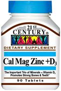 21st Century Cal Mag Zinc+D3 (90таб)