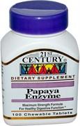 21st Century Papaya Enzyme (100жев.таб)