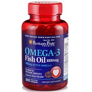 Puritan's Pride Omega-3 Fish Oil 1000mg (100гел.капс)