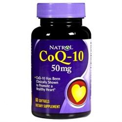 Natrol - CoQ-10 50 mg (30гел.капс) - фото 5470