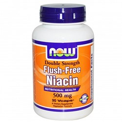 NOW - Flush Free Niacin 500 mg (90капс) - фото 6137