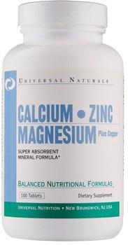 Universal Nutrition Calcium Zinc Magnesium (100таб) - фото 6592