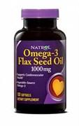 Natrol - Omega-3 Flax Seed Oil (90гел.капс)