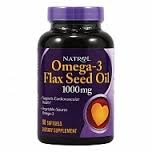 Natrol - Omega-3 Flax Seed Oil (200гел.капс)