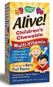 Nature's Way Alive! Children`s Multi-Vitamin (120жев.таб)