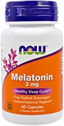 NOW - Melatonin 3 mg (60капс)