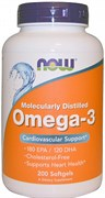 NOW - Omega 3 1000 mg (200гел.капс)