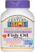 21st Century Fish Oil 1000mg (60таб)
