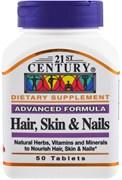 21st Century Advanced Formula Hair, Skin & Nails (50таб)