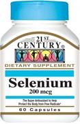 21st Century Selenium 200mсg (60капс)