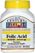 21st Century Folic Acid 400mcg (250таб)