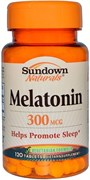 Sundown Naturals Melatonin 300mcg (120таб)